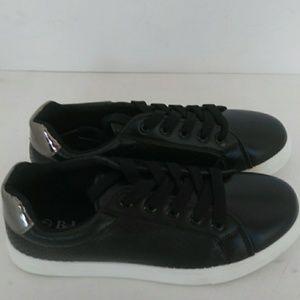 Ladie's Black/Pewter Metallic Shoes
